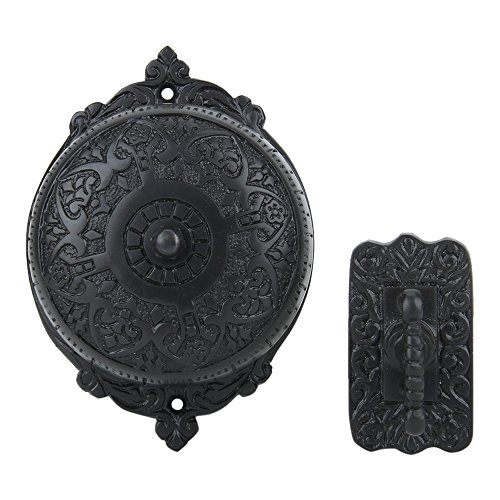 A29 Twist Hand-Turn Solid Brass Wireless Mechanical Doorbell Chime in Oil Rubbed Bronze Finish Vintage Decorative Antique Victorian Door Bell with Easy ()