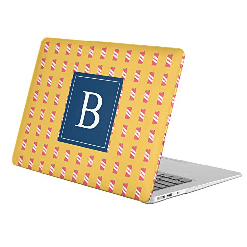 [ B - INITIAL ] [ Name Monogram Full Body Hard Case ][ Apple Macbook 12'' with Retina Display (Model: A1534) ] - [ Fast Food Pattern ] by KoolMac