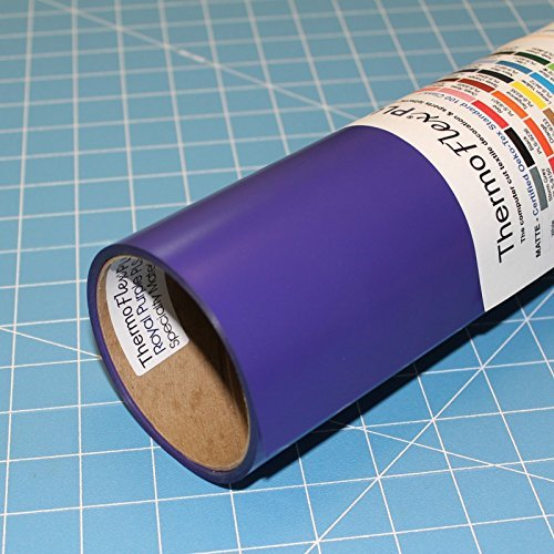ThermoFlex Plus 15'' x 10' Roll Purple Heat Transfer Vinyl, HTV by Coaches World