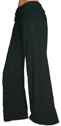 Funfash Plus Size Gaucho Flare Long Black Palazzo Pants Women Plus ...