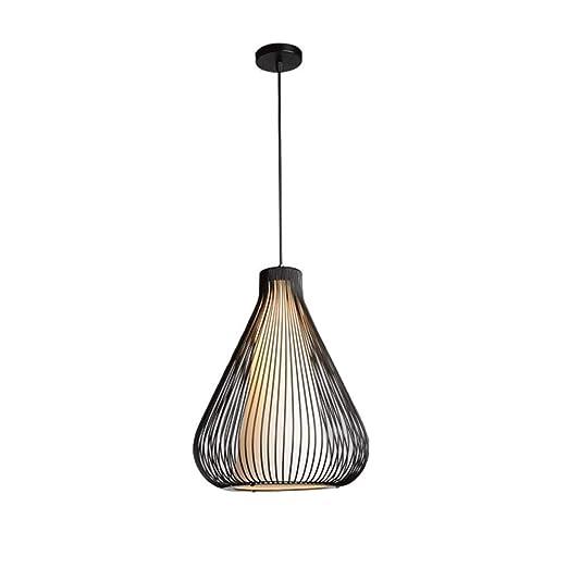 YLJR lámpara de Hierro Negro Industrial Techo, lámpara Jaula ...