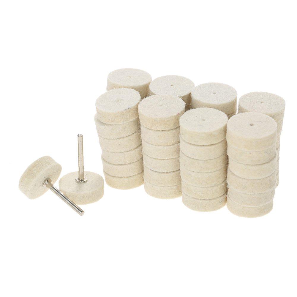 KKmoon Herramientas de pulido de la rueda de pulido abrasivo 129pcs Lana de fieltro Accesorios de pulido de superficie de metal para la herramienta rotativa Dremel