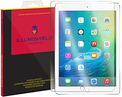 iLLumiShield Glass Screen Protector Compatible with Apple iPad Pro 12.9 inch (12.9 inch, 2017 and 2015 Compatible)(1-Pack) Anti-Scrach, Case Friendly and No-Bubble Clear Tempered Glass