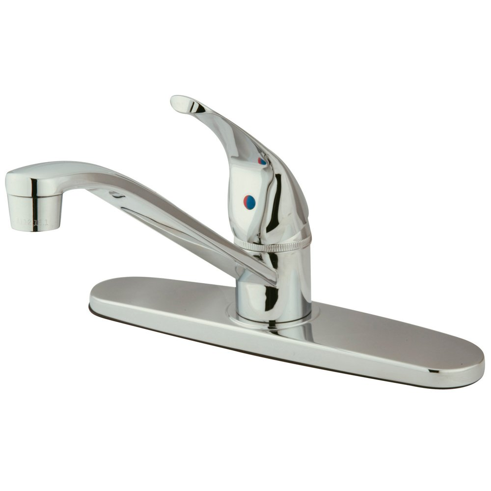 Kingston Brass KB5710 Chatham Single Lever Handle Kitchen Faucet without Sprayer, 8-Inch, Polished Chrome