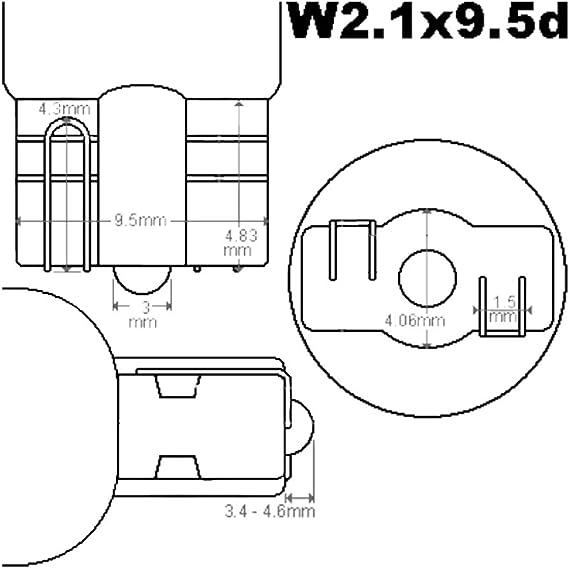 20 X T15 Auto Lampe W2 1x9 5d 10w W10w Glühbirne Glassockellampe Birne 12v Auto