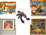 Children's Gift Bundle - Ages 3-5 [5 Piece] - Shrek Forever After Memory Game - Disney Jake and The Never Land Pirates Puzzle Toy - Ty Beanie Babies - Stinger the Scorpion - 2 in 1 Fairy Tales: Cind