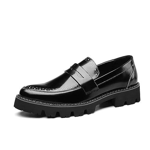 HILOTU Zapatos de Vestir Oxford para Hombre - Personalidad Casual Patentes de Brachadas de Cuero de Fiesta Zapatos Mocasín: Amazon.es: Zapatos y ...
