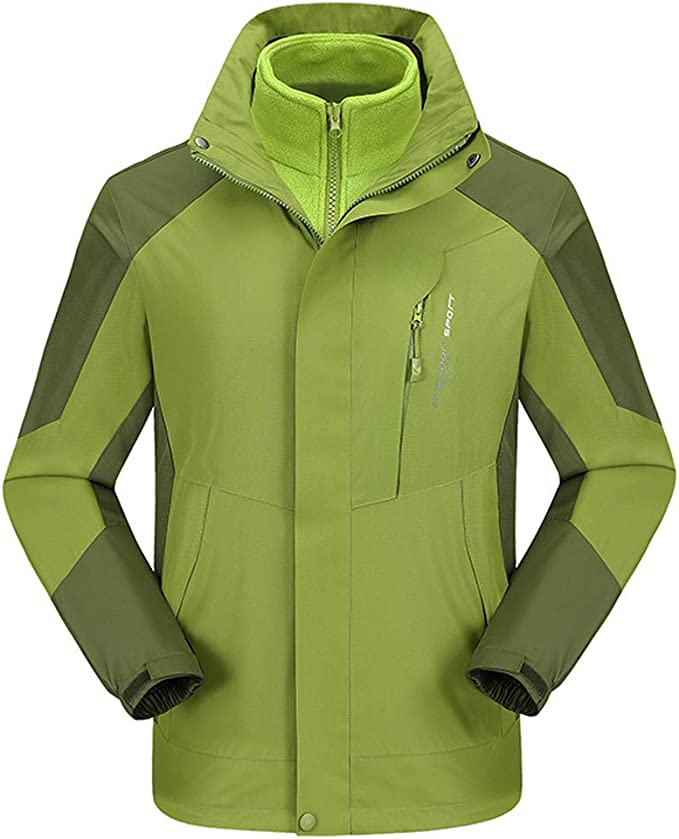 3 In 1 Jacket Herren Softshell Funktions Outdoorjacke Wasserdicht Kaputzen M-8XL