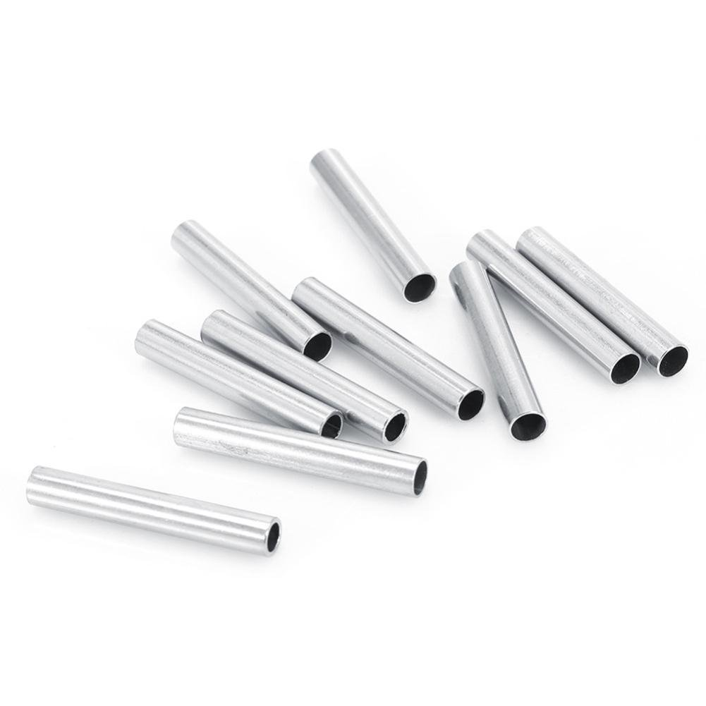 Gracefulvar 10pcs 304 Stainless Steel Tattoo Tube Grip Tip Back Stem