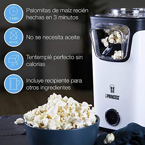 Princess 01.292986.01.001 Máquina de Hacer Palomitas, Blanco y Negro
