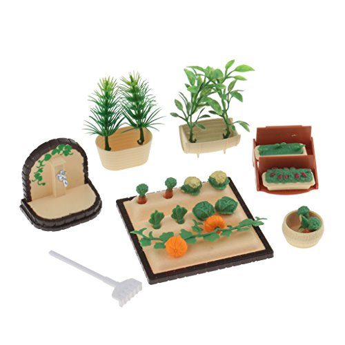 - MonkeyJack 1:12 Scale Vegetables Plants Field Dolls House Garden Decoration Accessories