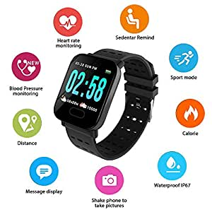 Layopo Bluetooth Smartwatch, Rastreador de Salud Long Standby con ...