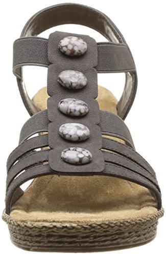 Rieker 69082 - sandalias abiertas de material sintético mujer gris - Grau (stromboli / 45)