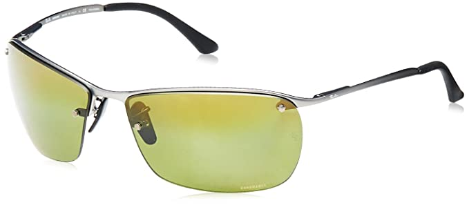 5f26aaa0876 Ray Ban Chromance Metal Frame Green Lens Sunglasses Rb3544  Amazon.co.uk   Clothing