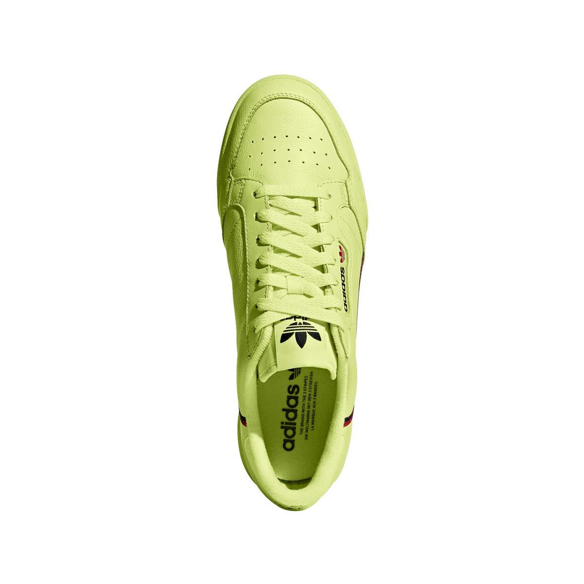 premium selection 48c77 a4f21 Amazon.com  adidas Continental 80 (Semi Frozen YellowScarletNavy) Mens  Shoes B41675  Fashion Sneakers