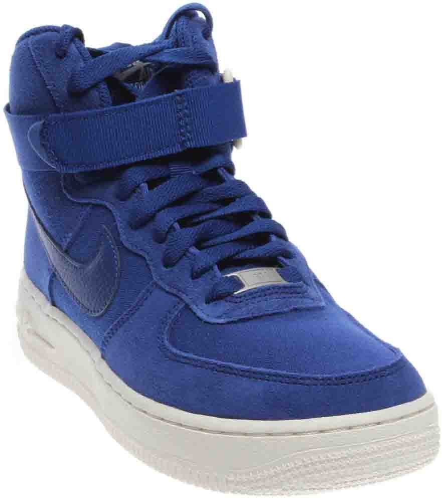 NIKE Air Force 1 High Big Kids Style Shoes : 653998, Deep Royal Blue/Deep Royal Blue, 6.5