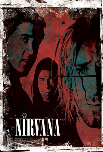Nirvana Poster Grunge Art Print Rock Giclee on Cotton Canvas and Paper Canvas Wall