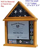 Small 3'x5' Flag Display Case Stand, NOT for Memorial or Funeral Flag size.Small 3'x5' Flag Display Case Stand, NOT for Memorial or Funeral Flag size. FC11V (Oak)