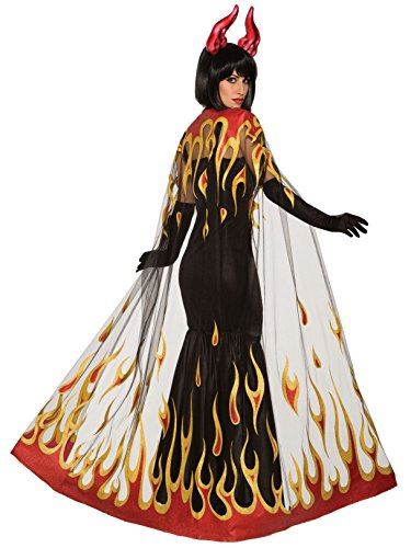 Forum Novelties Demons & Devils-Fire Cape, Multi-Color -