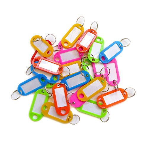 Multi Color Plastic Key Tags With Label Window - Luggage ID Labels...