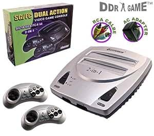 NES/Genesis Dual Action 2-in-1 Video Game System 16-bit & NES 8-bit Games