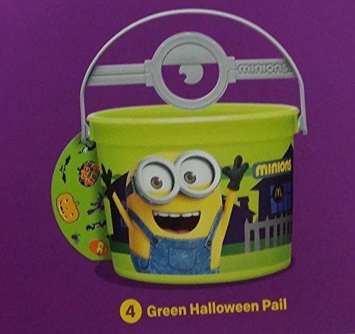 Mcdonalds 2015 Halloween Minions Pails Buckets - #4 Green by -