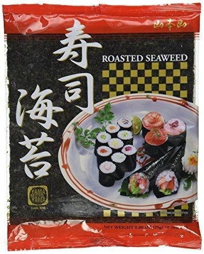 Yamamotoyama Roasted Seaweed for Sushi 0.88 Oz (10 Sheets) by Yamamotoyama ()