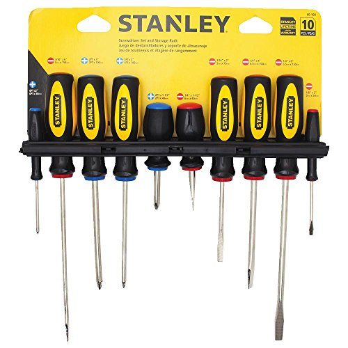 Image of Stanley 60-100 10-Piece Standard Fluted Screwdriver Set