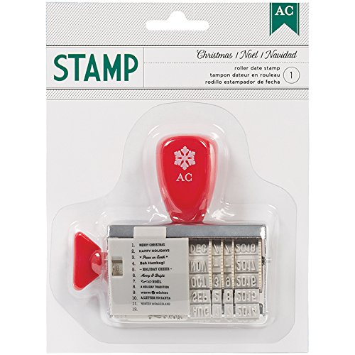 American Crafts Christmas Roller Date Stamp (American Crafts Date Stamp)