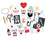 Nurse Graduation Photo Booth Props - Set of 40, JCTHBAG DIY Great Graduation Decorations Kits for 2018 Graduation Party Supplies, Doctor Nurse Graduation Party Supplies Theme (40-Count)