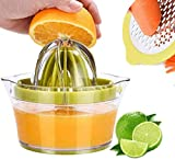Citrus Juicer Lemon Orange Juicer Manual Hand Squeezer With Built-In Measuring Cup And Grater