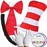 Adult CAT IN THE HAT COMPLETE 5 PIECE SET World Book Day Week Crazy Cat Fancy Dress costume