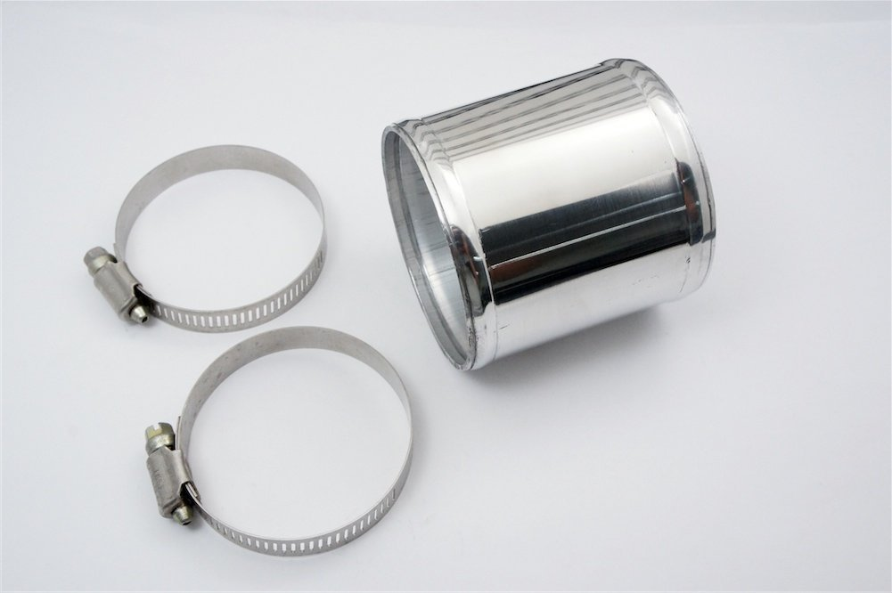 Autobahn88 Aluminum Alloy Pipe 60mm for Intercooler Pipe Straight and Universal Use 300mm OD 2.36 Chrome Polish Intake Pipe L 12