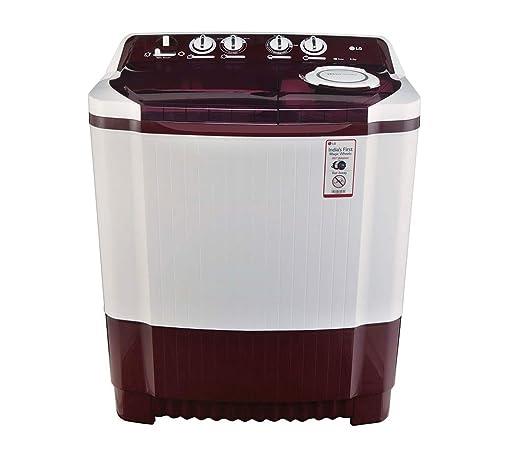 LG 8 0 kg Semi-Automatic Top Loading Washing Machine (P9042R3SM, Burgundy)
