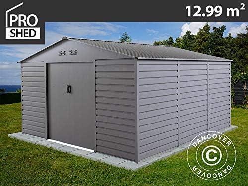 Dancover Caseta de Jardin 3, 4x3, 82x2, 05m ProShed®, Aluminio Gris: Amazon.es: Jardín