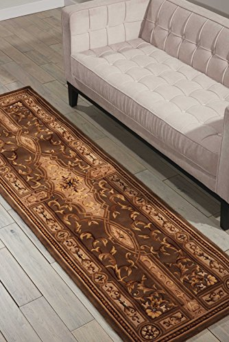 Nourison Versailles Palace (VP05) Mushroom Runner Area Rug, 2-Feet 3-Inches by 8-Feet  (2'3