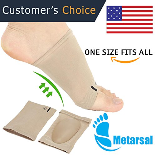 Gel Foot Arch Support Sleeve Sock, Soft Gel Sleeve for Flat Foot, Arch Pain, Arch Support Brace, Arch Brace, Minimize Soreness for Foot Arch, Absorbing Cushion Compression Sock (2 PCS) by Metarsal (Arch 2 Line)