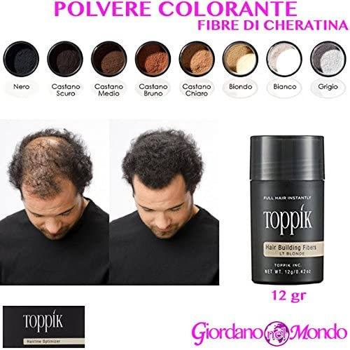 Polvo Tinte para Cabello de fibra de cheratina 12 gr Toppik ...