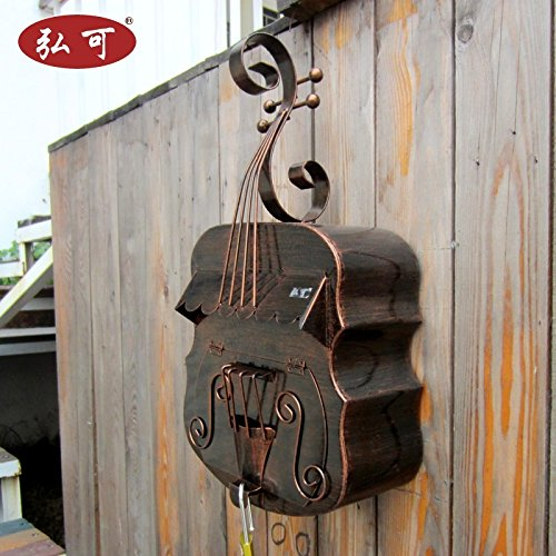 Austrian Style Guitar Creative Home Decor Postcard Pastoral Letter Box Storage Box European-style Villas Outdoor Wall Mount Mailbox