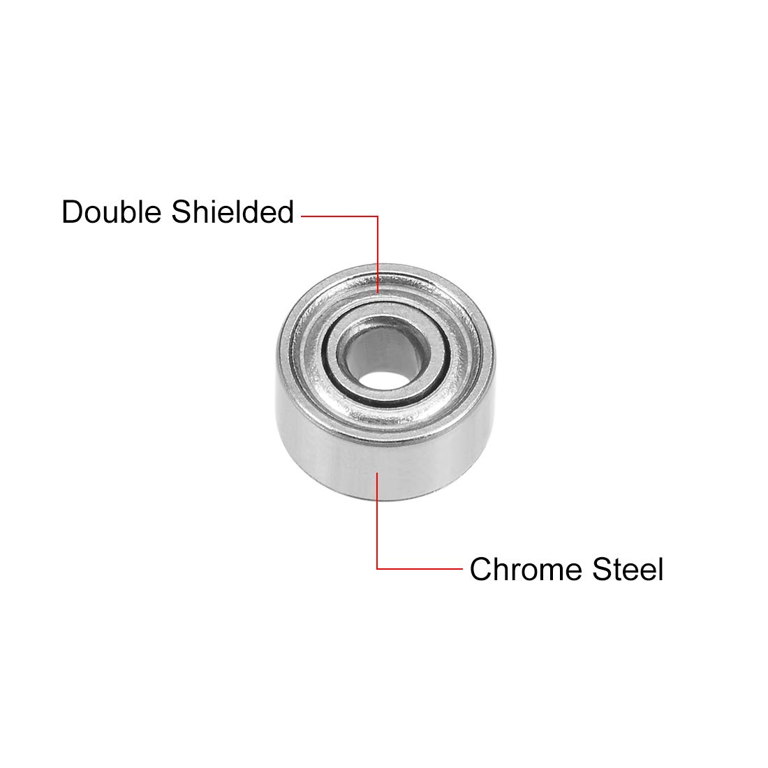 sourcing map 692ZZ Deep Groove Ball Bearing 2x6x3mm Double Shielded Chrome Steel Bearings 2-Pack