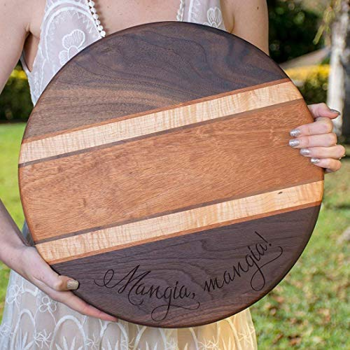 Personalized Hardwood Cutting Board Custom Chopping Block - Walnut, Mahogany, Maple Hardwoods