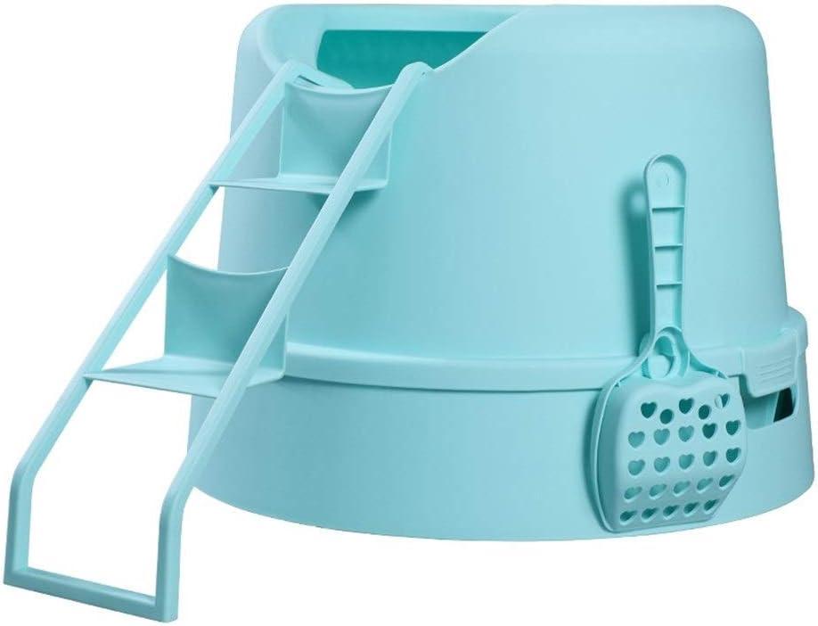 MZP Caja De Arena para Gatos, Aseo Gato Arenero Sanitaria con Escalera - Tiene Una Abertura Superior para Una Limpieza Rápida Y Fácil - Interior Espacioso (Color ...