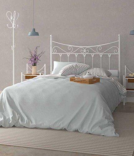 Factory Muebles Cabecero De Forja Nacional Modelo Coín Color Negro Para Cama De 150 Cms Varios Colores Y Medidas Disponibles