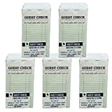 Guest Check CT-G7000 2 Part Carbonless, Perforated, Green, 3.4'' x 6.73'' Qty: 2500 (5pkg, 50 of 10 books)