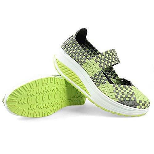Da Sandali Verde Ginnastica Tessere Fitness Donne Moda Scarpe qwC446