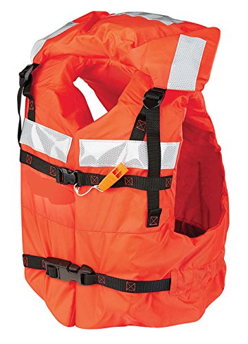 Life Offshore Vest - Kent Safety Products Mad Dog Products Type I Commercial Orange Life Jacket PFD - US Coast Guard Approved - Includes Safety Whistle