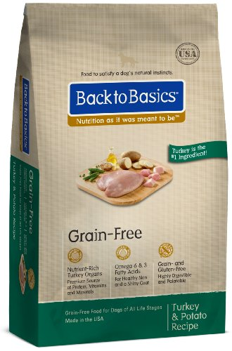 Back to Basics Grain-Free Dry Dog Food, Turkey and Potato Recipe, 24-Pound Bag