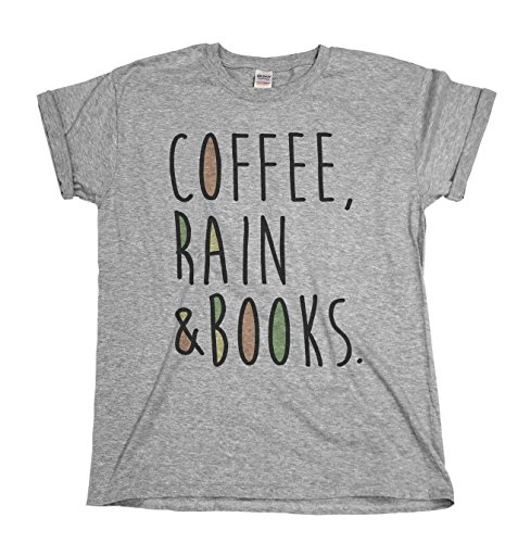 Coffee Rain and Books Mens & Ladies Unisex Fit Slogan T-Shirt