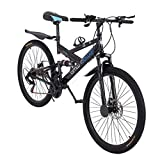 lkoezi 26 Inch Mountain Bike, Full Suspension MTB