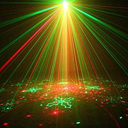 NEW SUNY Red Green Laser Blue LED 80 Gobos Effect Professional Projector Sound Active Remote Birthday Party Disco Bar Home Show Wedding Stage Light (Z80RGRG)